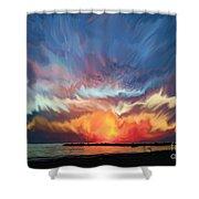 Sunset Art Landscape Shower Curtain