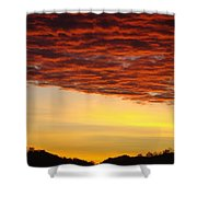 Sunset Art Prints Canvas Orange Clouds Twilight Sky Baslee Troutman Shower Curtain