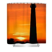 Sunset At Barnegat Lighthouse Shower Curtain