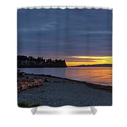 Sunset At Birch Bay State Park Shower Curtain