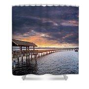 Sunset At Boulevard Park In Bellingham Washington Shower Curtain