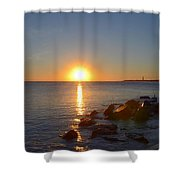 Sunset At Cape May Beach Shower Curtain