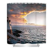Sunset At Castle Hill Shower Curtain