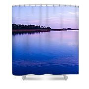 sunset at Cedar Key Shower Curtain