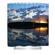 Sunset At Chester Lake Shower Curtain