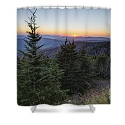 Sunset At Clingmans Dome Shower Curtain