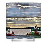 Sunset At Coastal Kayak Shower Curtain
