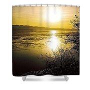 Sunset At Cook Inlet - Alaska Shower Curtain