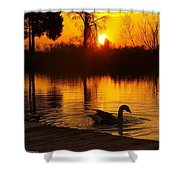 Sunset At Copper Canyon Ranch Shower Curtain