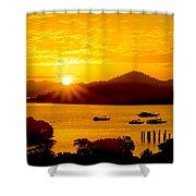 Sunset At Coron Bay Shower Curtain