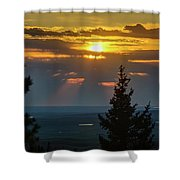 Sunset At Cypress #3 Shower Curtain