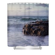 Sunset At Dunure Shower Curtain