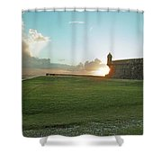 Sunset At El Morro Shower Curtain