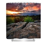 Sunset At Fontainebleau Shower Curtain