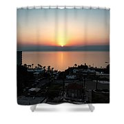 Sunset At Galilee Shower Curtain