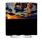 Sunset At Glassy Shower Curtain