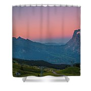 Sunset High Above Grindelwald Shower Curtain