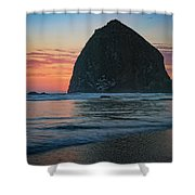 Sunset At Haystack Rock Shower Curtain