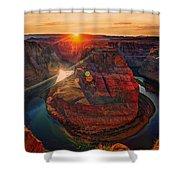 Sunset At Horseshoe Bend Shower Curtain