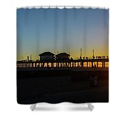 Sunset At Huntington Beach Shower Curtain