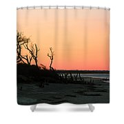 Sunset At James Island Shower Curtain