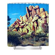 Sunset At Joshua Tree Shower Curtain