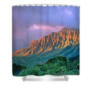 Sunset At Kalalau Lookout Shower Curtain