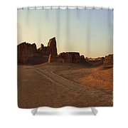 Sunset At Kaluts Desert Shower Curtain