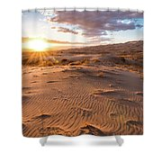 Sunset At Kelso Dunes Shower Curtain