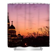 Sunset At Kharkov  Ukraine Shower Curtain