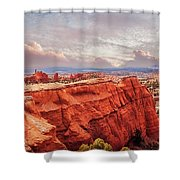 Sunset At Kodachrome Basin State Park Panorama Shower Curtain