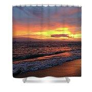 Sunset At Lahaina On Maui, Hawaii Shower Curtain