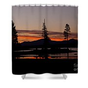 Sunset At Lake Almanor 02 Shower Curtain
