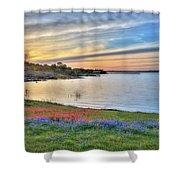 Sunset At Lake Buchanan Shower Curtain