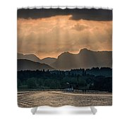 Sunset At Lake District Shower Curtain