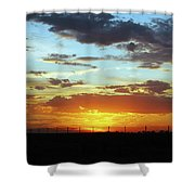 Sunset At Little River Victoria Shower Curtain