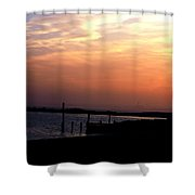Sunset At Lordship Beach Shower Curtain