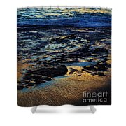 Sunset At Low Tide Shower Curtain