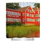 Sunset At Lowell's Boat Shop Shower Curtain