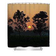Sunset At Lumbini Shower Curtain