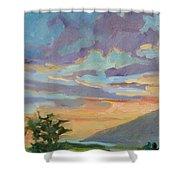 Sunset At Makawao Shower Curtain