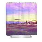 Sunset At Mima Mounds Shower Curtain