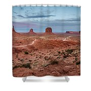 Sunset At Monument Valley No.2 Shower Curtain