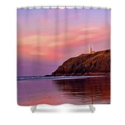 Sunset At North Head Lighthouse Shower Curtain