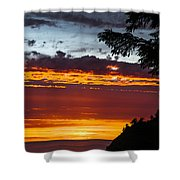 Sunset At Oswald West Shower Curtain