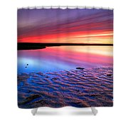 Sunset At Paines Creek Cape Cod Shower Curtain