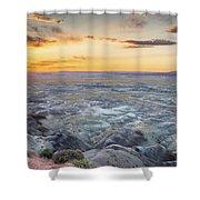 Sunset At Painted Desert Shower Curtain