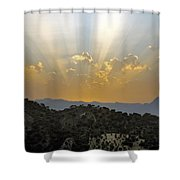 Sunset At Pastelero Near Villanueva De La Concepcion Andalucia Spain Shower Curtain