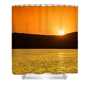 Sunset At Pichola Lake Shower Curtain by Yew Kwang