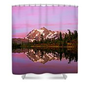 Sunset At Picture Lake Shower Curtain